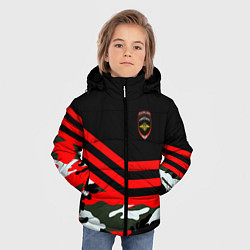 Куртка зимняя для мальчика Полиция: Камуфляж цвета 3D-черный — фото 2
