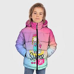Куртка зимняя для мальчика SUPER GIRL цвета 3D-черный — фото 2