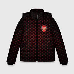 Куртка зимняя для мальчика Arsenal: Sport Grid цвета 3D-черный — фото 1