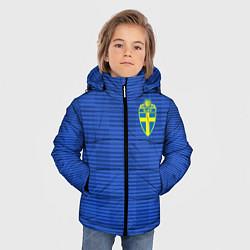 Куртка зимняя для мальчика Сборная Швеции: Гостевая ЧМ-2018 цвета 3D-черный — фото 2