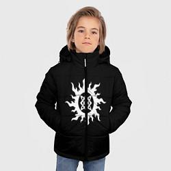 Куртка зимняя для мальчика Звезда Руси цвета 3D-черный — фото 2