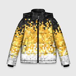 Детская зимняя куртка для мальчика с принтом Имперский флаг пикселами, цвет: 3D-черный, артикул: 10152081106063 — фото 1