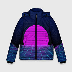 Куртка зимняя для мальчика Digital Sunrise цвета 3D-черный — фото 1