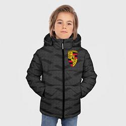 Куртка зимняя для мальчика Porsche: Grey Sport цвета 3D-черный — фото 2