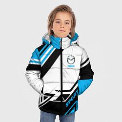 Детская зимняя куртка для мальчика с принтом Mazda: Techno Sport, цвет: 3D-черный, артикул: 10152657106063 — фото 2