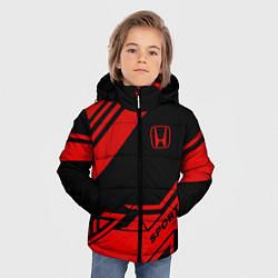Куртка зимняя для мальчика Honda: Techno Sport цвета 3D-черный — фото 2
