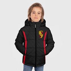 Куртка зимняя для мальчика Porsche: Sport Edition цвета 3D-черный — фото 2