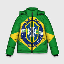 Куртка зимняя для мальчика CBF Brazil цвета 3D-черный — фото 1