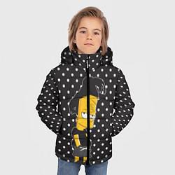 Куртка зимняя для мальчика Барт с дредами цвета 3D-черный — фото 2