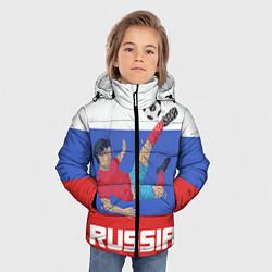 Детская зимняя куртка для мальчика с принтом Russia Footballer, цвет: 3D-черный, артикул: 10153474906063 — фото 2