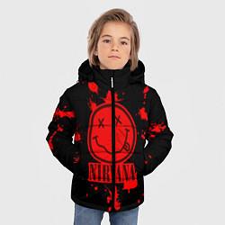 Куртка зимняя для мальчика Nirvana: Blooded Smile цвета 3D-черный — фото 2
