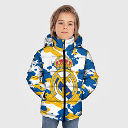 Куртка зимняя для мальчика Real Madrid: Camo цвета 3D-черный — фото 2
