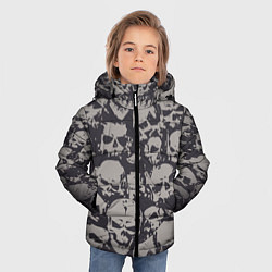 Куртка зимняя для мальчика Демонические черепа цвета 3D-черный — фото 2