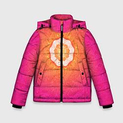 Куртка зимняя для мальчика Солнечная мандала цвета 3D-черный — фото 1