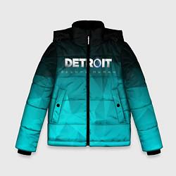 Куртка зимняя для мальчика Detroit: Become Human цвета 3D-черный — фото 1