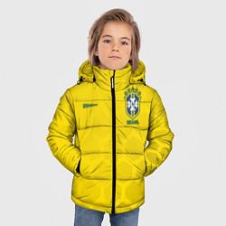 Детская зимняя куртка для мальчика с принтом Brazil Team: WC 2018, цвет: 3D-черный, артикул: 10154615706063 — фото 2