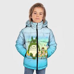 Куртка зимняя для мальчика Мой сосед Тоторо цвета 3D-черный — фото 2