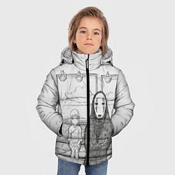 Детская зимняя куртка для мальчика с принтом Унесенные призраками, цвет: 3D-черный, артикул: 10155884106063 — фото 2