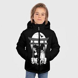Детская зимняя куртка для мальчика с принтом Унесённые призраками, цвет: 3D-черный, артикул: 10156080106063 — фото 2
