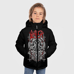 Детская зимняя куртка для мальчика с принтом Slayer: Hell Goat, цвет: 3D-черный, артикул: 10156416706063 — фото 2