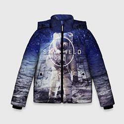 Куртка зимняя для мальчика Starfield: Astronaut цвета 3D-черный — фото 1