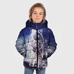 Куртка зимняя для мальчика Starfield: Astronaut цвета 3D-черный — фото 2
