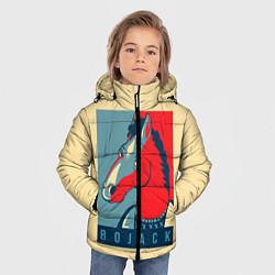 Куртка зимняя для мальчика BoJack Obey цвета 3D-черный — фото 2