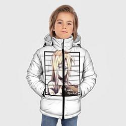 Куртка зимняя для мальчика Rachel Gardner цвета 3D-черный — фото 2