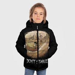 Куртка зимняя для мальчика Don't starve stories цвета 3D-черный — фото 2