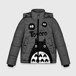 Куртка зимняя для мальчика Тоторо рядом цвета 3D-черный — фото 1