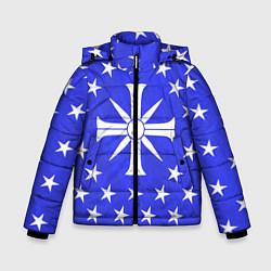 Куртка зимняя для мальчика Far Cry 5: Blue Cult Symbol цвета 3D-черный — фото 1