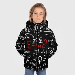 Куртка зимняя для мальчика E=mc2: Black Style цвета 3D-черный — фото 2