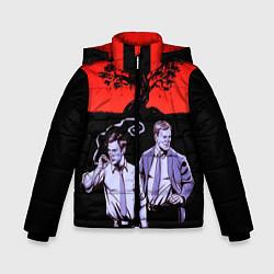 Куртка зимняя для мальчика True Detective: Double Agents цвета 3D-черный — фото 1