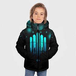 Куртка зимняя для мальчика The 100: City цвета 3D-черный — фото 2