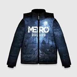 Детская зимняя куртка для мальчика с принтом Metro Exodus: Dark Moon, цвет: 3D-черный, артикул: 10161310106063 — фото 1