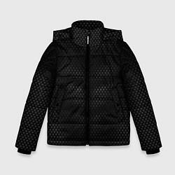 Куртка зимняя для мальчика Карбоновая броня цвета 3D-черный — фото 1