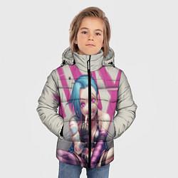 Куртка зимняя для мальчика Jinx: LoL цвета 3D-черный — фото 2