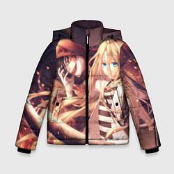 Куртка зимняя для мальчика Satsuriku no Tenshi цвета 3D-черный — фото 1
