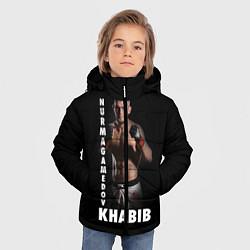 Куртка зимняя для мальчика Хабиб: Дагестанский борец цвета 3D-черный — фото 2