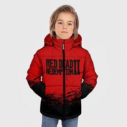 Куртка зимняя для мальчика Red Dead Redemption II цвета 3D-черный — фото 2