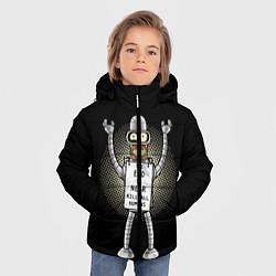 Куртка зимняя для мальчика Kill All Humans цвета 3D-черный — фото 2
