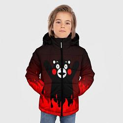 Куртка зимняя для мальчика Kumamon: Hell Flame цвета 3D-черный — фото 2