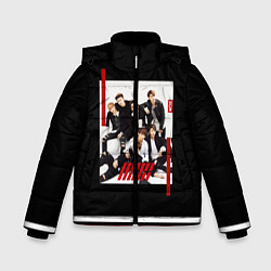 Куртка зимняя для мальчика IKON Band цвета 3D-черный — фото 1