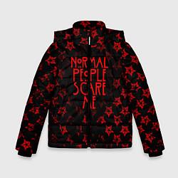 Куртка зимняя для мальчика AHS: Scare Me цвета 3D-черный — фото 1