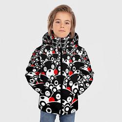 Детская зимняя куртка для мальчика с принтом Kumamons, цвет: 3D-черный, артикул: 10162796906063 — фото 2