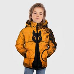 Куртка зимняя для мальчика Halloween Cat цвета 3D-черный — фото 2