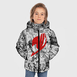 Куртка зимняя для мальчика Fairy Tail: Stories цвета 3D-черный — фото 2