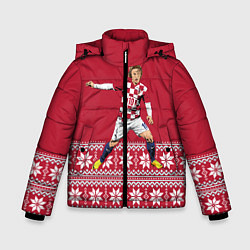 Куртка зимняя для мальчика Luka Modric цвета 3D-черный — фото 1