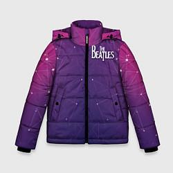 Куртка зимняя для мальчика The Beatles: Neon Style цвета 3D-черный — фото 1