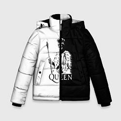 Куртка зимняя для мальчика Queen B&W цвета 3D-черный — фото 1